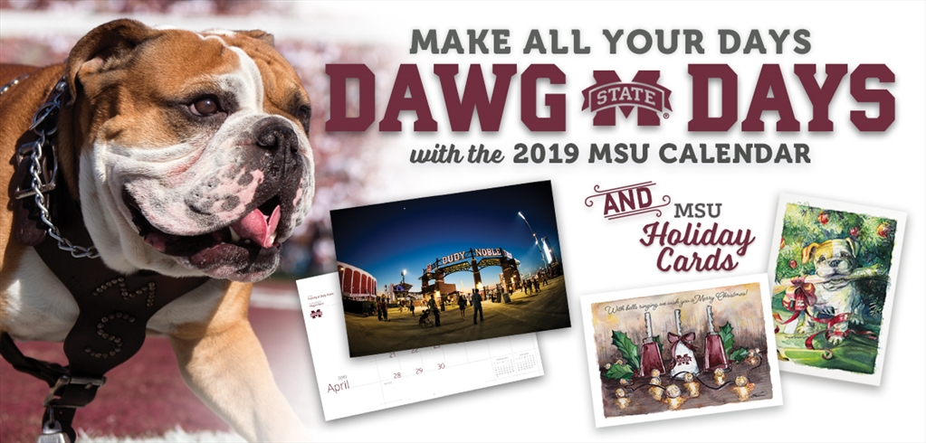 Mississippi State Calendar 2019 Mississippi State University Development and Alumni   MSU wall